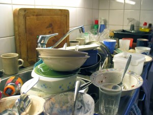 Dishes are the basis of most roommate arguments, I think.