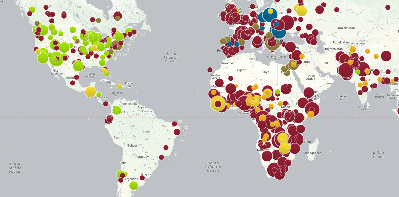 Vaccinationpreventable outbreak Map from the council on foreign relations