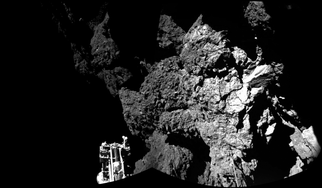 Composite picture from Rosetta